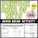 Brain Breaks Activity: Surface Area of Nets | Partner Activity or Practice