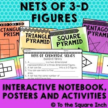 Nets of 3-D Figures Interactive Notebook