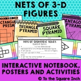 Nets of 3-D Figures Interactive Notebook