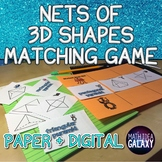 Nets of 3D Shapes Matching Game