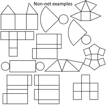 Nets of Geometric Solids Clipart