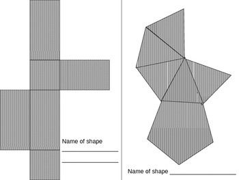Nets of Three Dimensional Shapes