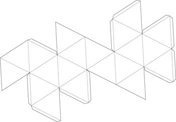 Nets with tabs (Platonic Solids)