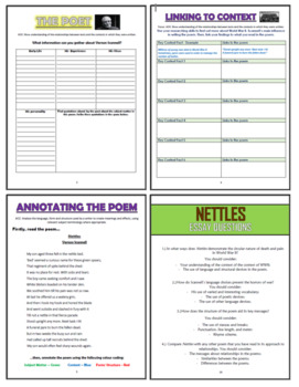 Nettles - Vernon Scannell - Comprehension Activities Booklet!