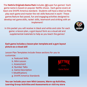 Nettrix Originals Physical Education Game Pack!