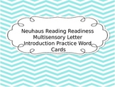 Neuhaus Reading Readiness Multisensory Letter Introduction Practice Word Cards