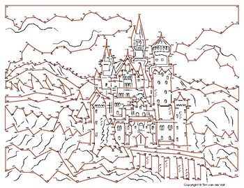Neuschwanstein Castle Extreme Dot-to-Dot / Connect the Dots