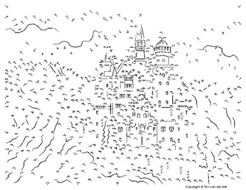 graphic about Adult Dot to Dot Printable called Neuschwanstein Castle Extraordinary Dot-toward-Dot / Communicate the Dots