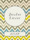 Neutral Chevron 2014-2015 Teacher Binder