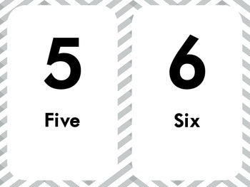 Neutral Chevron Number 1-20 Posters