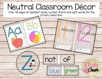 Neutral Classroom Decor