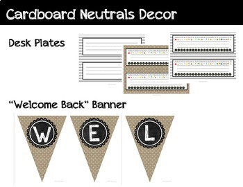 Neutral Classroom Decor - Upper Grades