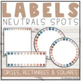 Neutral Dots Editable Labels Set