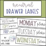 Neutral Drawer Labels - editable