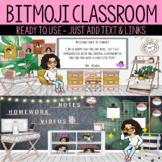 Neutral Modern Bitmoji Virtual Classroom for any Grade Lev