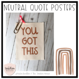 Neutral Quote Posters