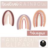 Neutral Rainbow Boho Clipart