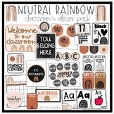 Neutral Rainbow Classroom Decor Pack