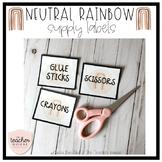 Neutral Rainbow Supply Labels - Editable