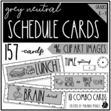 Neutral Schedule Cards in Grey