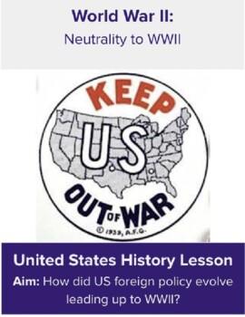 Neutrality to WWII
