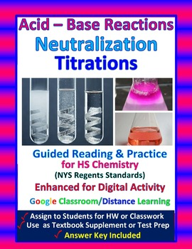 Acid Base Reactions, Neutralization, Titration: Essential Skills Lesson #32 & 33