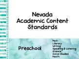 Nevada Academic Content Standards Cards- Preschool