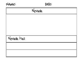 Nevada Counting Puzzle Map