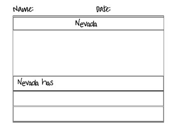 Nevada Flag Map Counting Puzzles