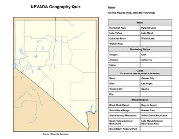 Nevada Geography Quiz