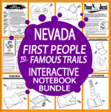 Nevada History Interactive Notebook: First Native Americans – Famous Trails