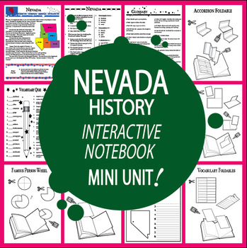 Nevada History–Interactive Notebook Nevada State Study Unit + AUDIO!