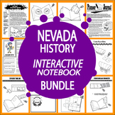 Nevada History State Study Interactive Notebook Bundle–19 Literacy-Based Lessons