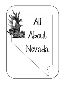 Nevada State Lapbook/Interactive Notebook.  US State History. Geography