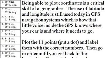 Nevada Latitude and Longitude Coordinates Puzzle - 11 Points to Plot -- FREE!