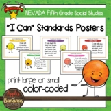 """Nevada Social Studies - """"I Can"""" Fifth Grade Standards Posters"""