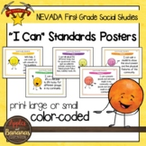 """Nevada Social Studies - """"I Can"""" First Grade Standards Posters"""