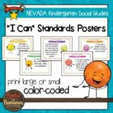"Nevada Social Studies - ""I Can"" Kindergarten Standards Posters"