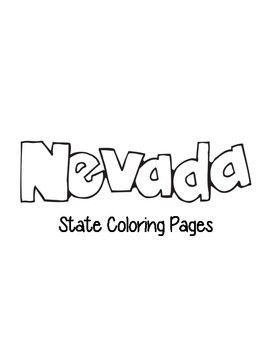 Nevada State Coloring Pages