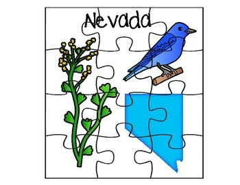 Nevada State Fact Puzzle Set