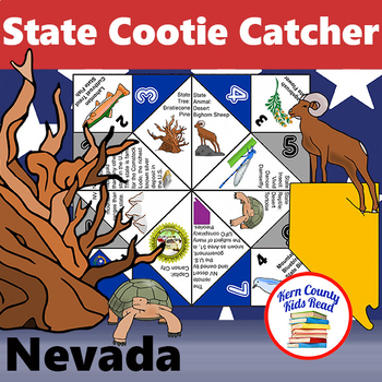 Nevada State Facts and Symbols Cootie Catcher Fortune Teller