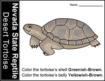 Nevada State Reptile Coloring Page By Fabulous Vegas Firsties Tpt