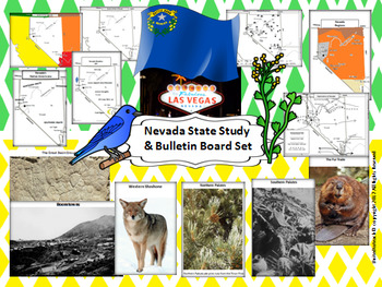 Nevada State Study & Bulletin Board Set