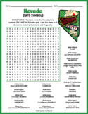 NEVADA State Symbols Word Search Puzzle Worksheet Activity