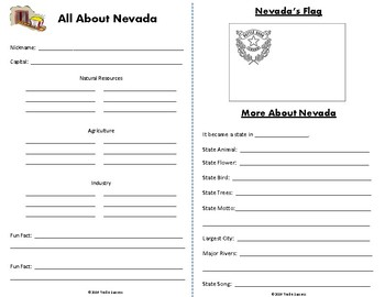 Nevada Webquest Common Core Research Activity Mini Book