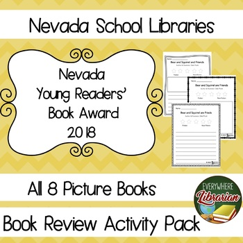 Nevada Young Readers' Book Awards 2018 Library Lesson Reviews Pack Picture