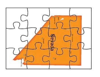 Nevada State Puzzle map