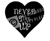 Never Give Up SVG & PNG files