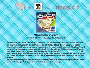 """""""Never Mail an Elephant"""" by Mike Thayer Creative U.S. Mail Study Activity"""