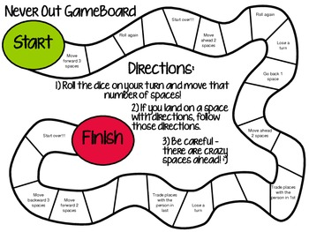 Never Out! Gameboard